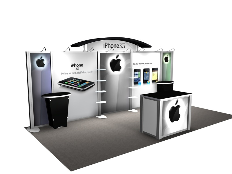 Exhibition Booth Accessories : Exhibit design search re iphone with workstations