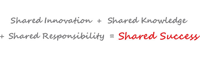 Shared Innovation + Shared Knowledge + Shared Responsibility = Shared Success