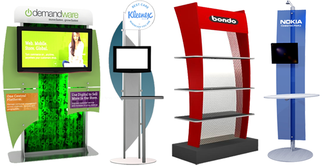 Portable Modular Exhibition Stands : Workstations and monitor stands classic exhibits