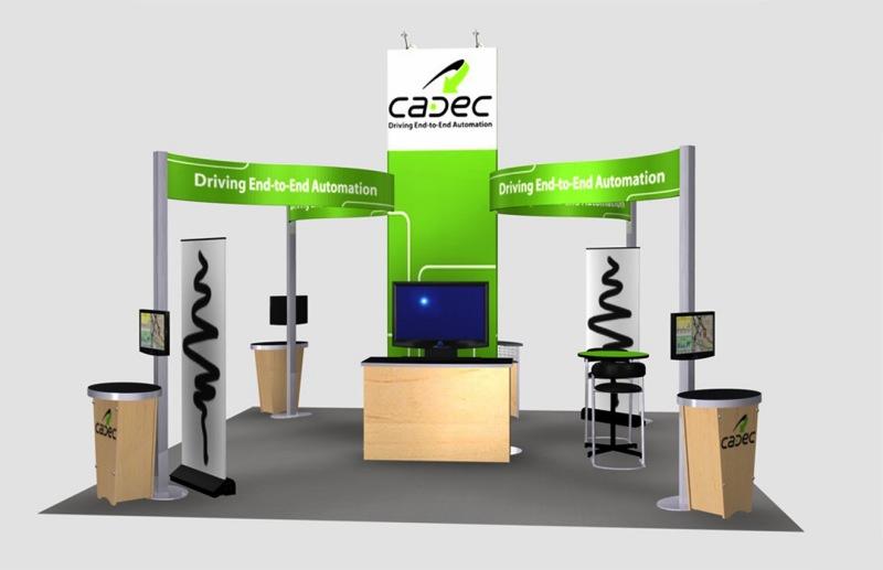 Portable Exhibition Flooring : Exhibit design search re cadec island rental