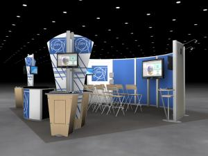 RE-9065 Rental Exhibit / 20' x 20' Island Trade Show Display - Image 2