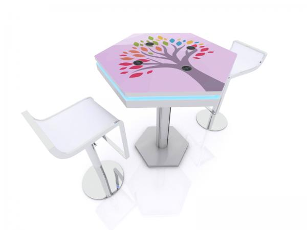 MOD-1465 Wireless Trade Show and Event Charging Bistro Table -- Image 3