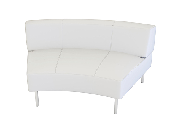 Curved Rental Sofa -- Trade Show Rental Furniture