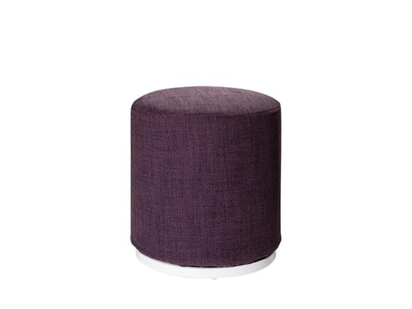 CEOT-039 (Plum Fabric) | Marche Swivel Ottoman -- Trade Show Rental Furniture