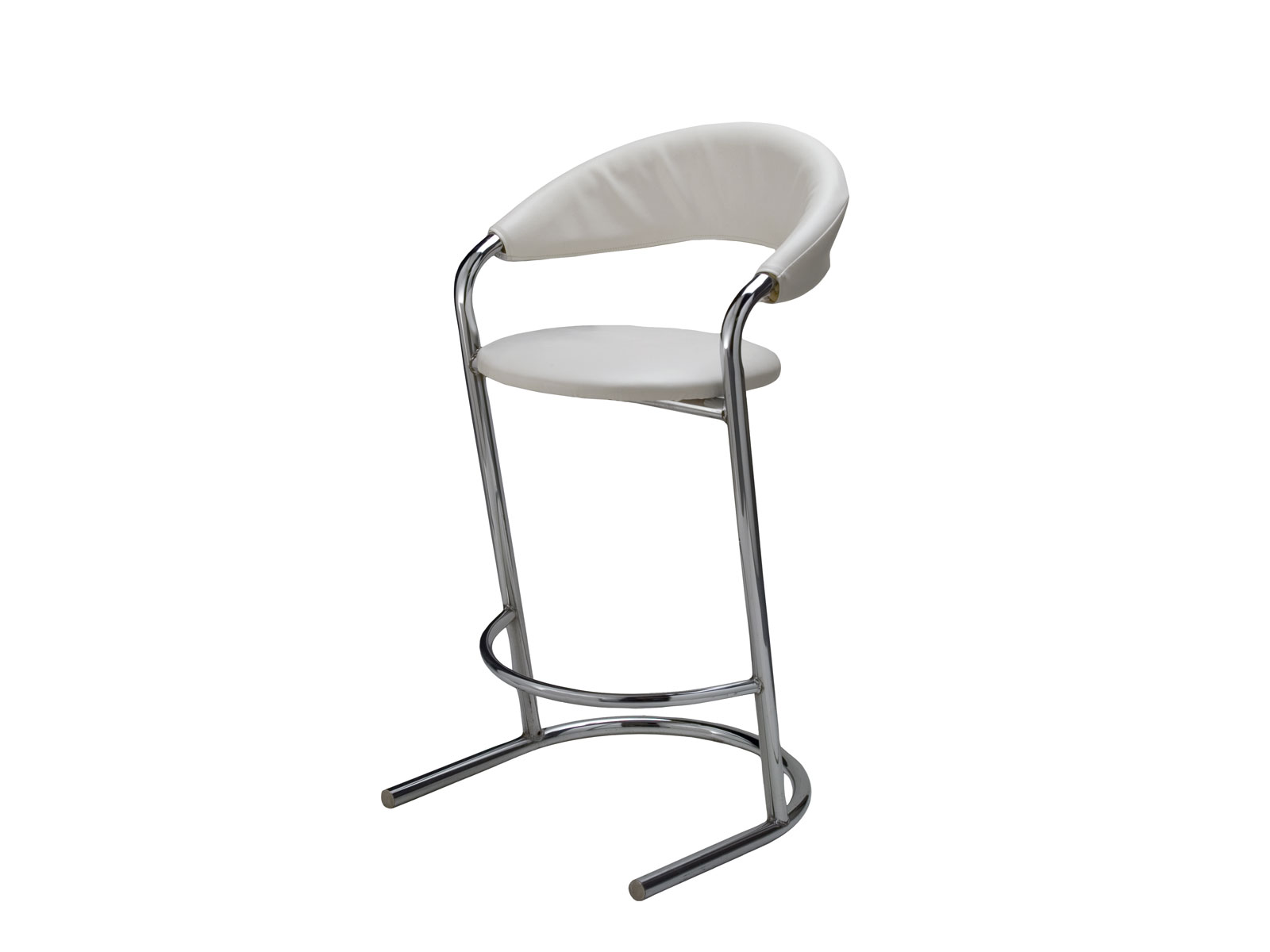 CEBS-002 | Bar Stool White -- Trade Show Furniture Rental
