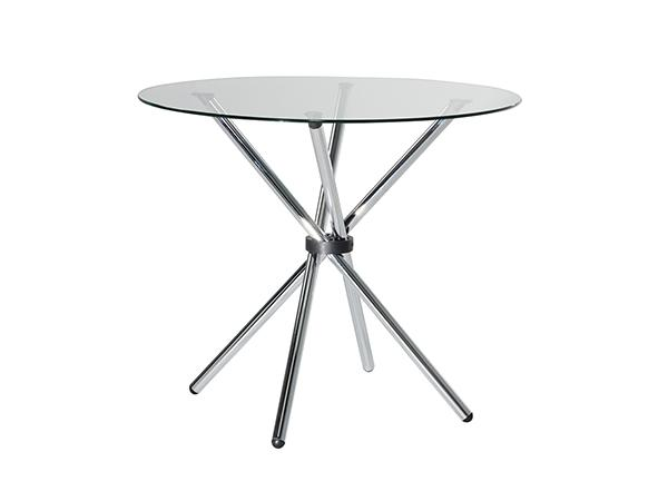 "CECT-023 | Atomic 36"" Round Table -- Trade Show Rental Furniture"
