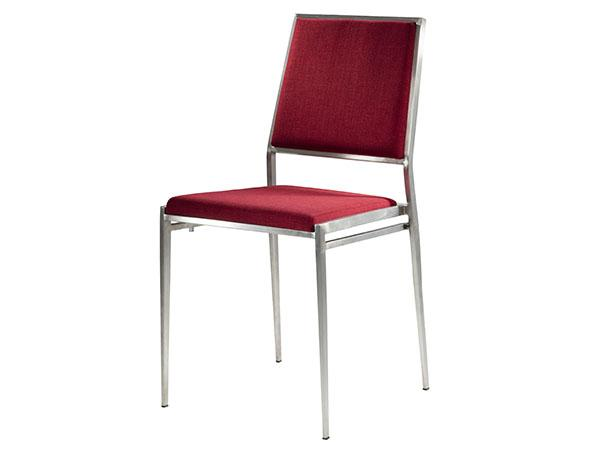 CEGS-023 | Marina Chair Red Fabric -- Trade Show Furniture Rental