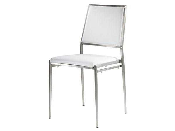 CEGS-024 | Marina Chair White Vinyl -- Trade Show Furniture Rental