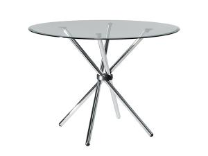 "CECT-024 | Atomic 42"" Round Table -- Trade Show Rental Furniture"