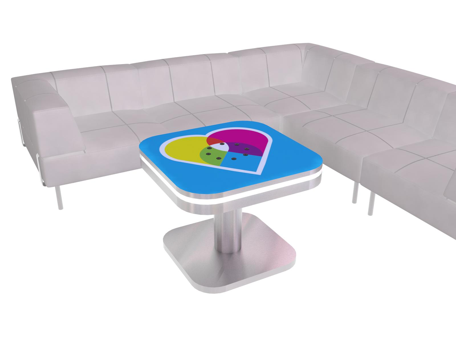 Exhibit Design Search MOD 1441 Charging Coffee Table Monitor