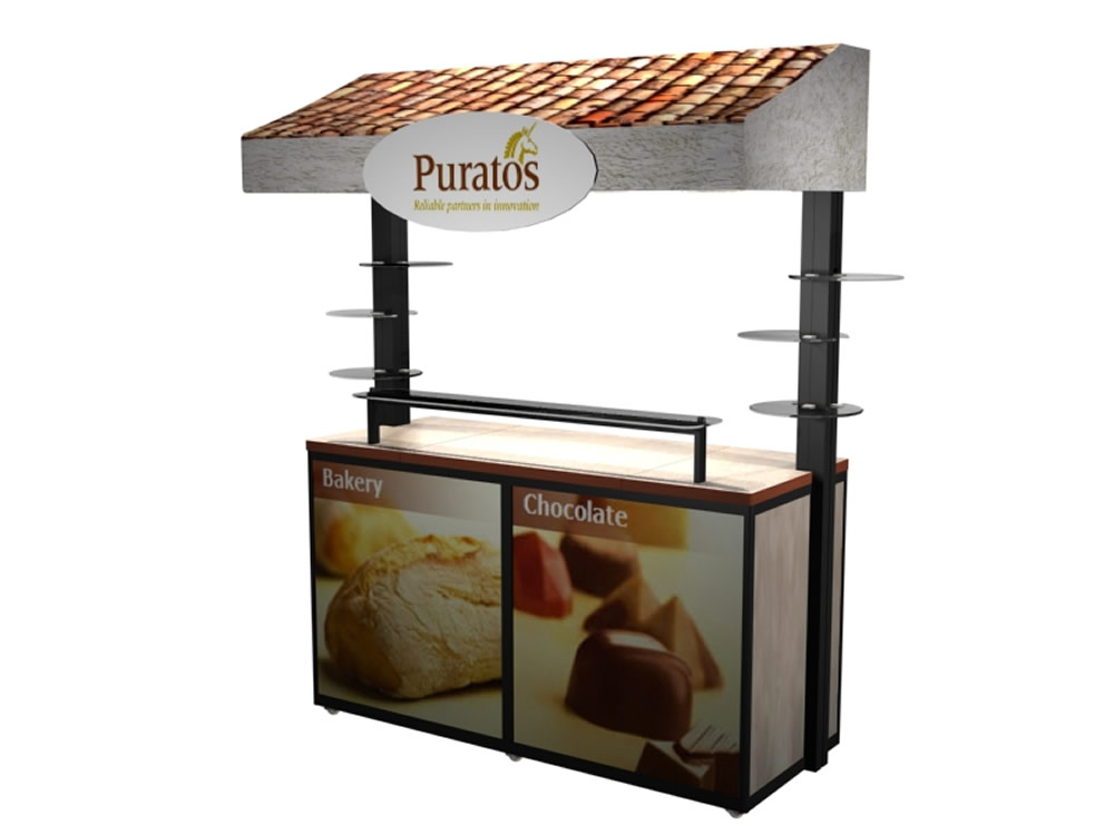 Exhibit Design Search MOD 1196 Kiosk Monitor Stands