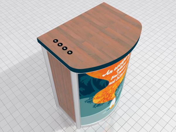 MOD-1267 Pedestal with MOD-225 Charging Station and Graphics Option -- Request Price