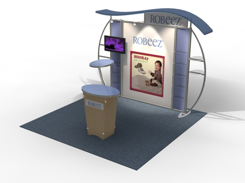 VK-1314 Trade Show Exhibit with Silicone Edge Graphics (SEG) -- Image 4