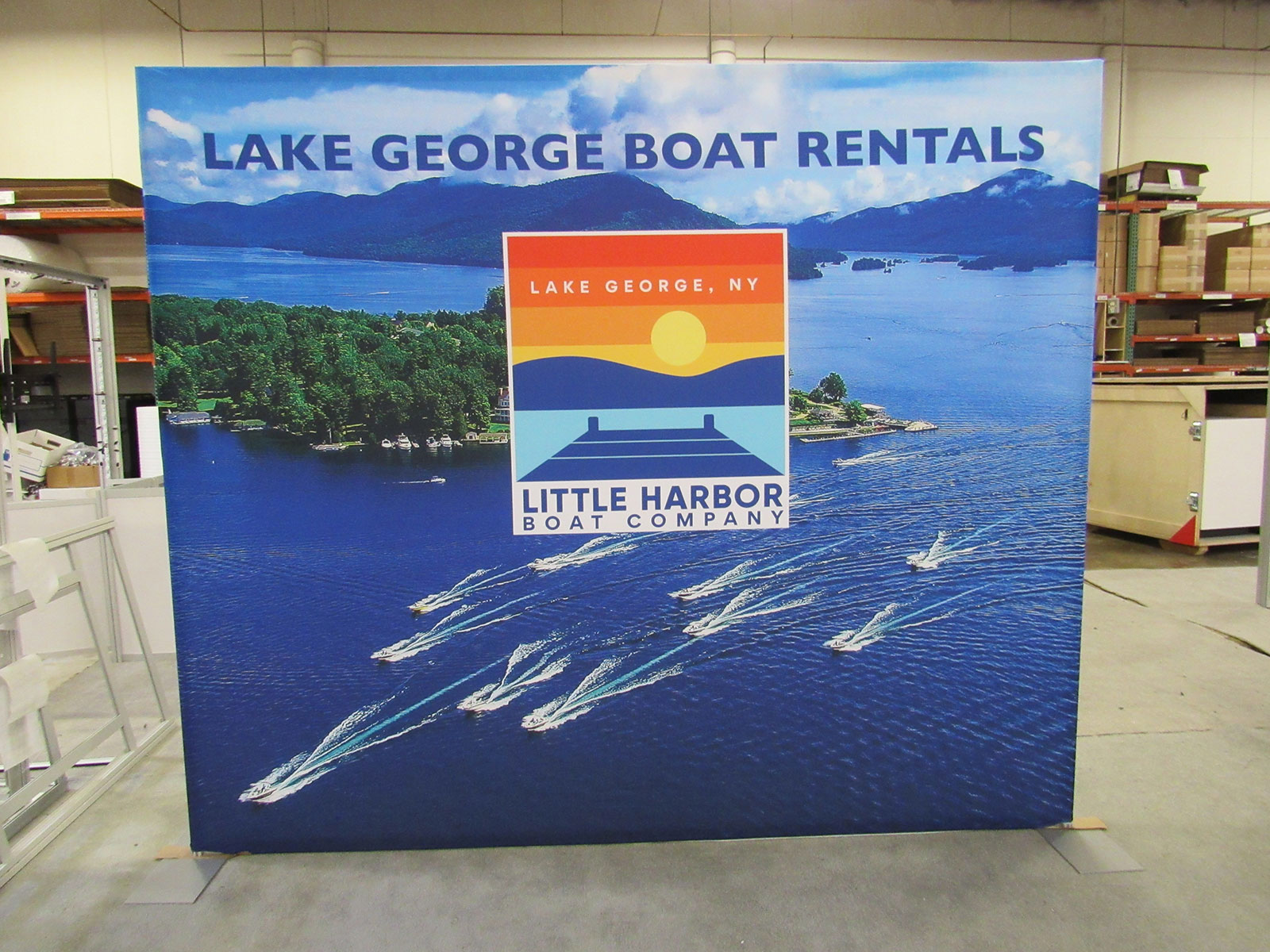 VK-8010 Portable Trade Show Displays with Pillowcase Fabric Graphics