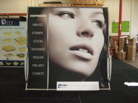 VK-1503 Perfect 10 Portable Hybrid Display with Header, Cubby, and Tension Fabric Graphics -- Image 1