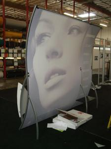 VK-1503 Perfect 10 Portable Hybrid Display with Header, Cubby, and Tension Fabric Graphics -- Image 2