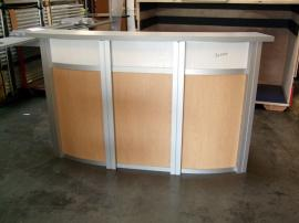 MOD-1143 Modular Reception Counter with Locking Storage -- Image 1