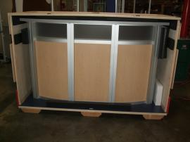 MOD-1143 Modular Reception Counter with Locking Storage -- Image 3