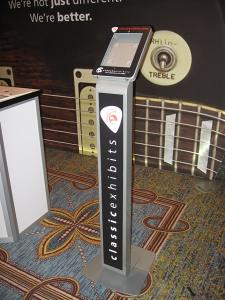 Graphic Solutions for iPad Kiosks Including Clamshell Halos, Face Plates, and Vinyl Application -- Image 6