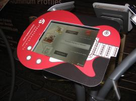 Misc. iPad Kiosks with Halo, Face Plate, and Vertical Support Custom Graphics -- Image 1