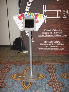 Misc. iPad Kiosks with Halo, Face Plate, and Vertical Support Custom Graphics -- Image 6