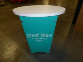 LTG-1001 Portable Tapered Pedestal with Graphic -- Image 1