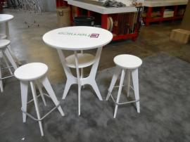 OTMB-100 Portable, Brandable Tables and Chairs in White -- Image 1
