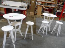 OTMB-100 Portable, Brandable Tables and Chairs in White -- Image 2