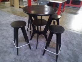 OTM-100 Portable Table and Chairs in Black