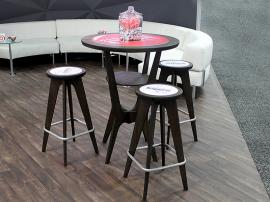 OTM-100 Portable, Brandable Table and Chairs in Espresso and Amber -- Image 2