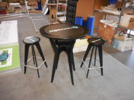 "OTM-100 ""On The Move"" Portable Table and Chairs with Graphic Inserts -- Image 1"