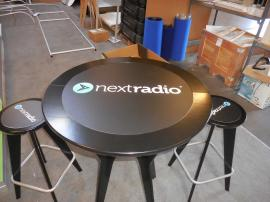 "OTM-100 ""On The Move"" Portable Table and Chairs with Graphic Inserts -- Image 2"