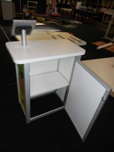 MOD-1551 Portable Counter with MOD-1329 iPad Swivel Stand and ZB-221 Literature Holder -- Image 3