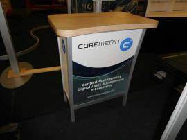 MOD-1300 Modular Pedestal with Graphic Insert