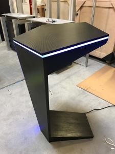 Custom Wood Pedestals with RGB Programmable LED Lights (see remote)