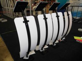 (4) MOD-1336 iPad Stands with Graphics and Locking Clamshells