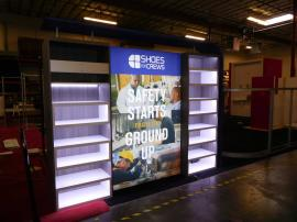 Custom Inline with Shelving, Lightbox, Perimeter LED Lights, and Fabric Canopy Header