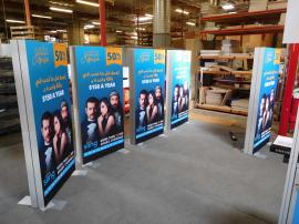 (5) SuperNova LED Lightboxes with Backlit SEG Fabric Graphics