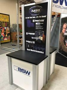 RENTAL: (2) RE-1233 Double-Sided Rectangular Counter Kiosks with Storage