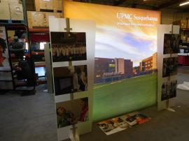 Modified ECO-1062 Sustainable Exhibit with LED Backlit Graphic and Direct Print Standoff Graphics