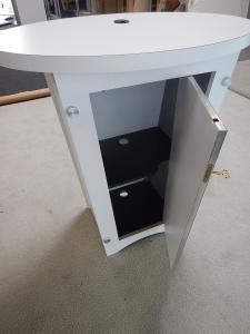 RENTAL: RE-1201 Tapered Counter with Locking Storage