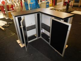 MOD-1702 Backlit Counter with Shelves and Locking Storage