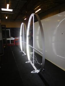 (2) Custom Egg-Shaped SuperNova LED Lightboxes, (shown without graphics)