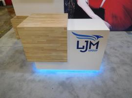 Custom Counter with Locking Storage and LED Accent Lights