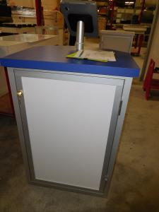 MOD-1267 Modular Counter with iPad Swivel Mount and Locking Storage