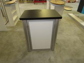 MOD-1188 Modular Counter with Grommet, Shelf, and Locking Storage