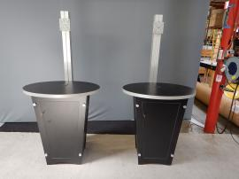 RENTAL: Includes (2) RE-1223 Tapered Counter Kiosks with Black Laminated Finish
