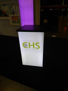 RENTAL: RE-1566 Backlit Reception Counter