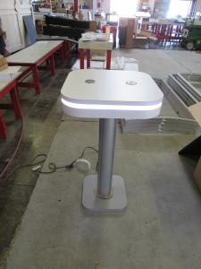 MOD-1463 Portable Bistro Charging Table with Wireless and USB Charging Ports (shown w/o graphics)