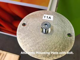 Attach Mounting Plate with Bolt.